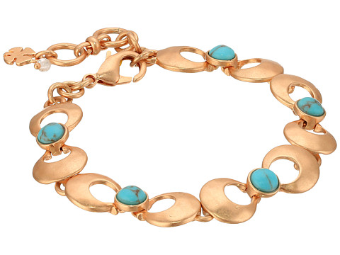 Lucky Brand Turquoise Link Bracelet III - Rose Gold
