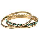 Lucky Brand - Turquoise Beaded Bangle Bracelet