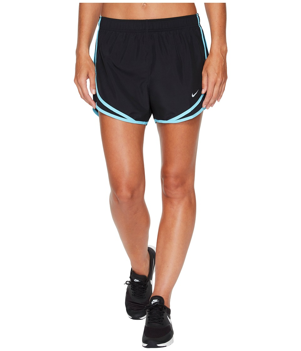 Nike Dry Tempo Short (Black/Black/Polarized Blue/Wolf Grey) Women