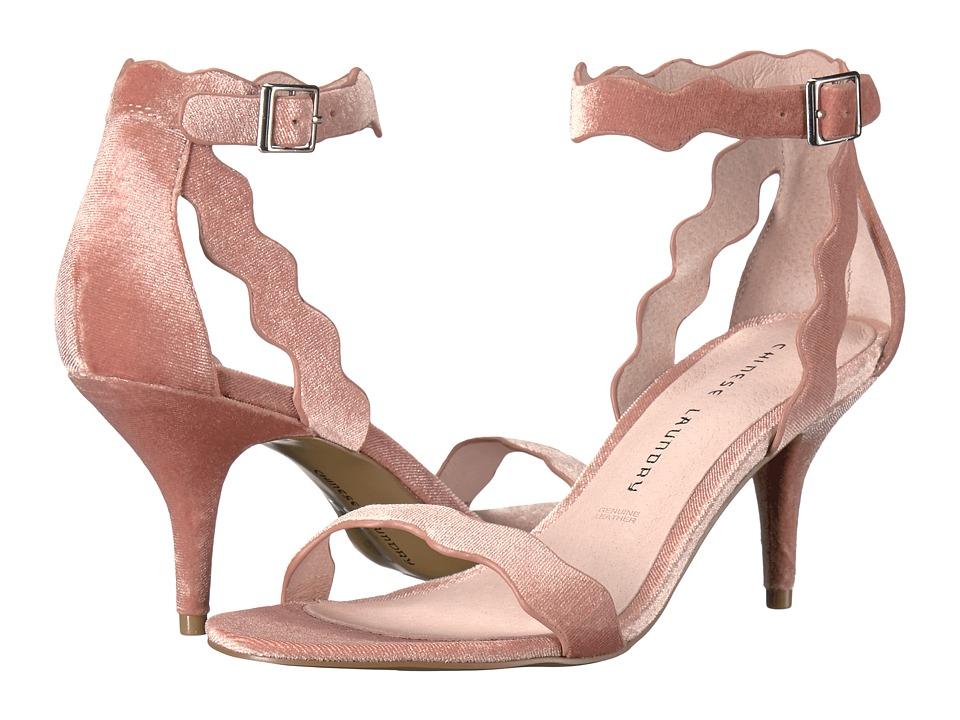 Chinese Laundry Rubie (Rose Rich Velvet) High Heels