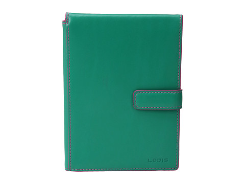 Lodis Accessories Audrey Passport Wallet w/ Ticket Flap - Green/Azalea