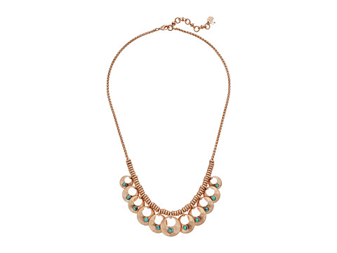 Lucky Brand Turquoise Collar Necklace II - Rose Gold