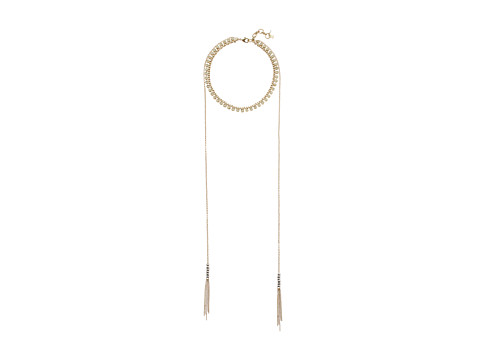 Lucky Brand Chain Choker with Long Chain Necklace - Two-Tone