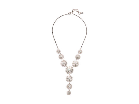 Lucky Brand Pearl Circle Y Necklace - Silver