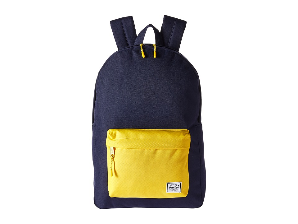 Herschel Supply Co. Classic (Peacoat/Cyber Yellow) Backpack Bags
