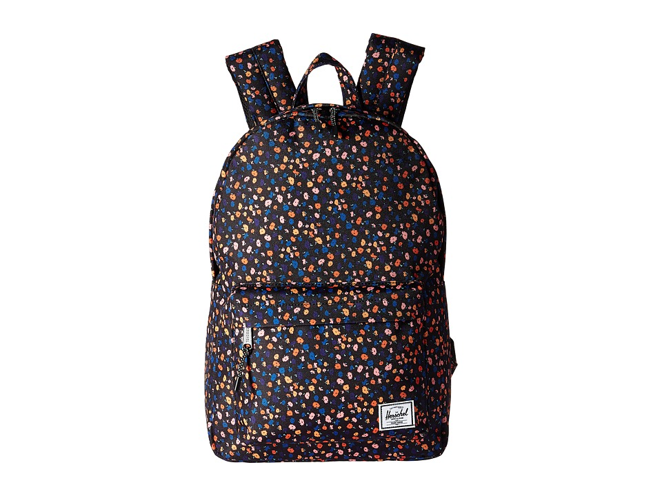 Herschel Supply Co. Classic Mid-Volume (Black Mini Floral) Backpack Bags