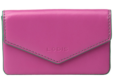 Lodis Accessories Audrey Maya Card Case - Azalea/Green