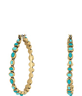 Lucky Brand - Turquoise Beaded Hoop Earrings II
