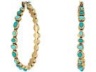 Lucky Brand - Turquoise Beaded Hoop Earrings II