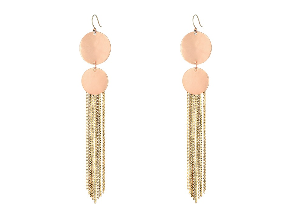 Lucky Brand Rose Gold and Gold Drama Earrings (Two-Tone) ...