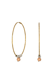 Lucky Brand - Gold Hoop Earrings with Rose Gold