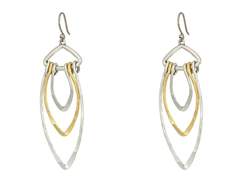 Lucky Brand Thin Loop Earrings - Two-Tone