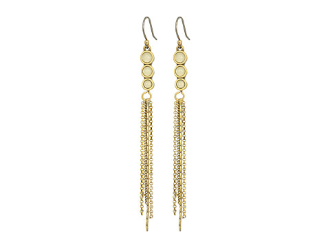 Lucky Brand Cream and Gold Linear Earrings - Gold