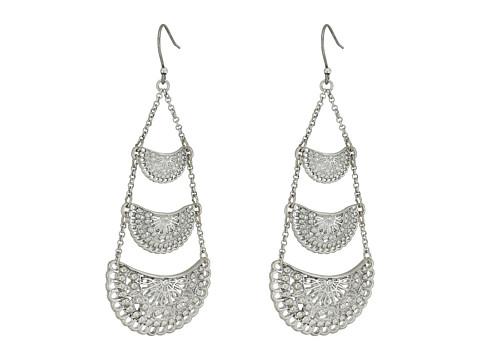 Lucky Brand Openwork Chandelier Earrings II - Silver