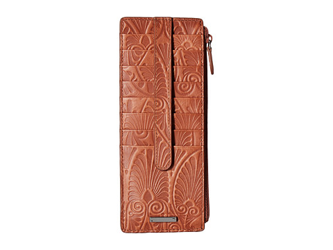 Lodis Accessories Denia Credit Card Case with Zipper Pocket - Toffee