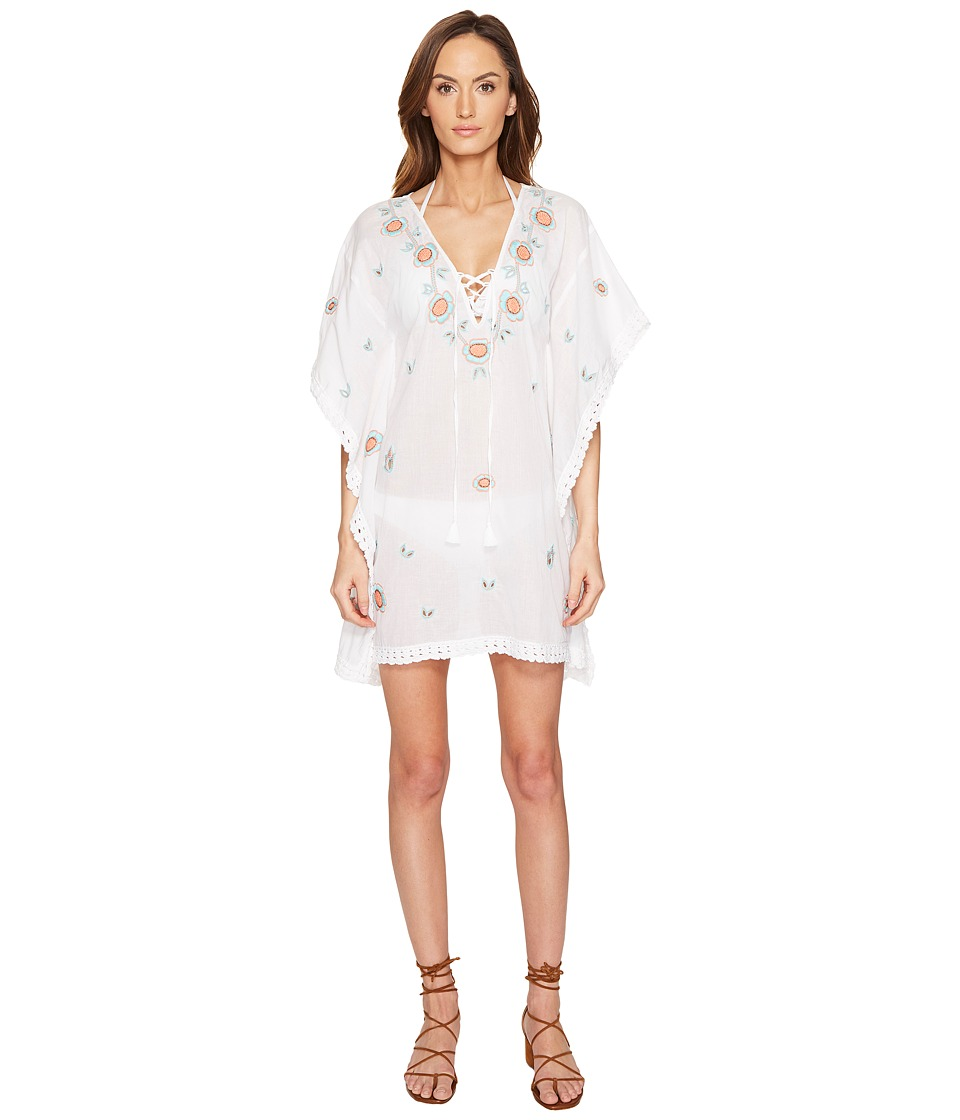 Letarte Embroidered Tunic (White Multi) Women