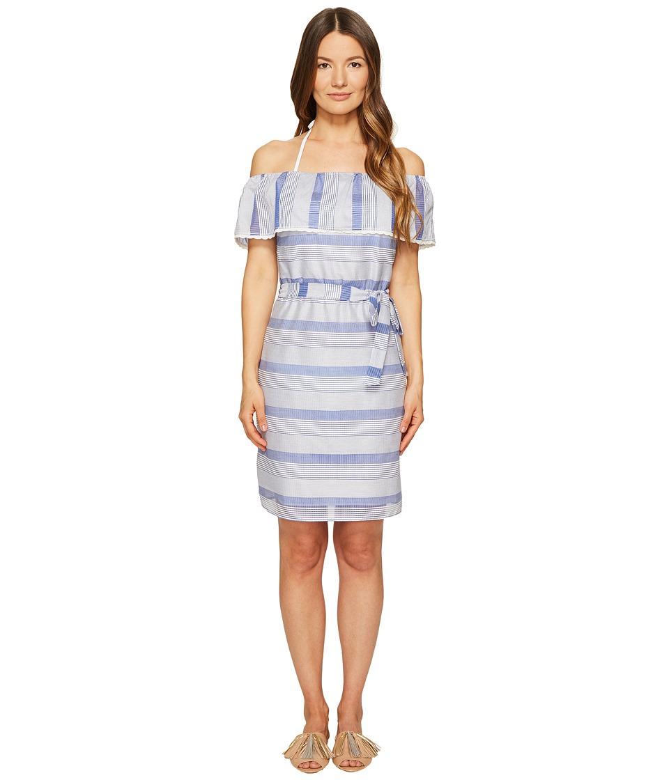Letarte Flounce Dress (Blue Multi) Women