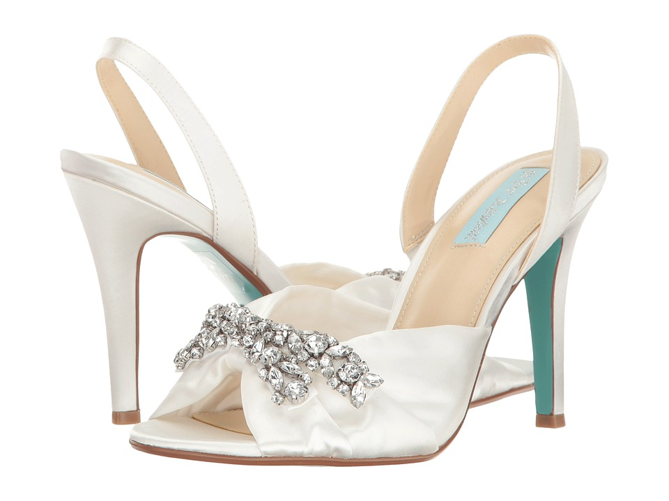 Blue by Betsey Johnson Briel (Ivory Satin) High Heels