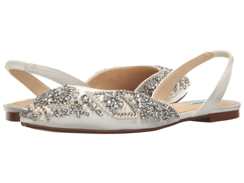 Blue by Betsey Johnson Molly (Ivory Satin) Women