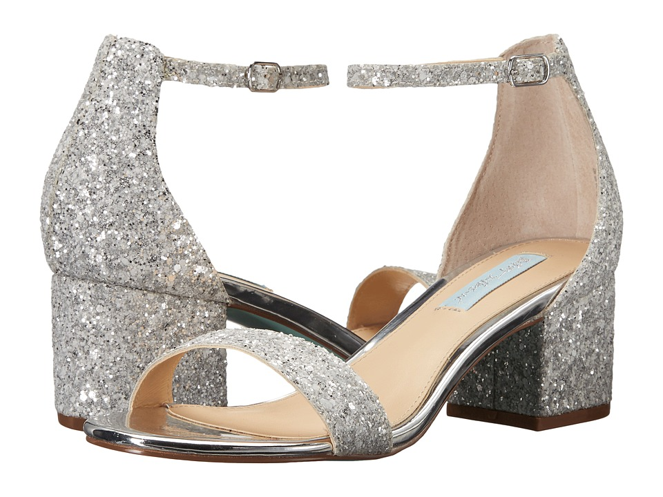 Blue by Betsey Johnson Jayce (Silver Glitter) Women