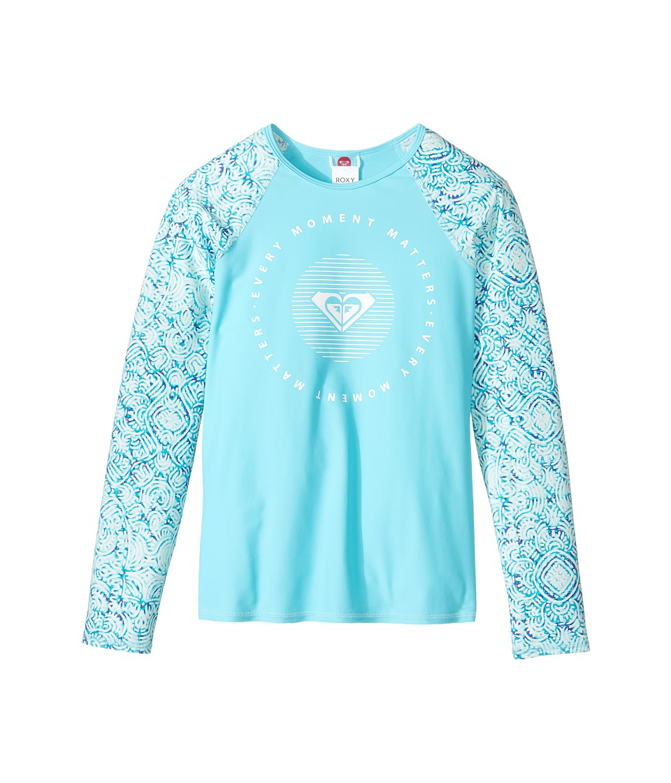 Roxy Kids Caribbean Days Long Sleeve Rashguard (Big Kids) (Marshmallow in the Flow) Girl
