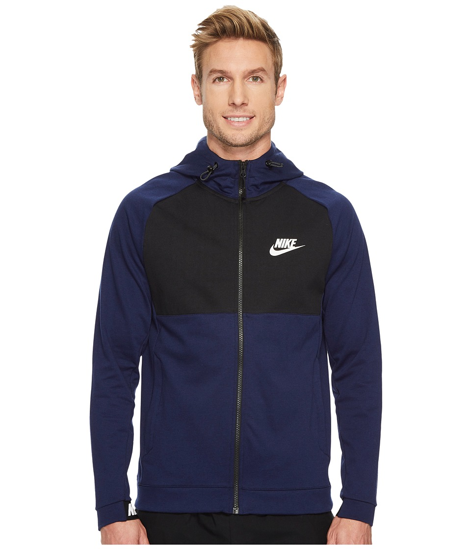 Nike Sportswear Advance 15 Full Zip Hoodie (Binary Blue/Black/Black/White) Men