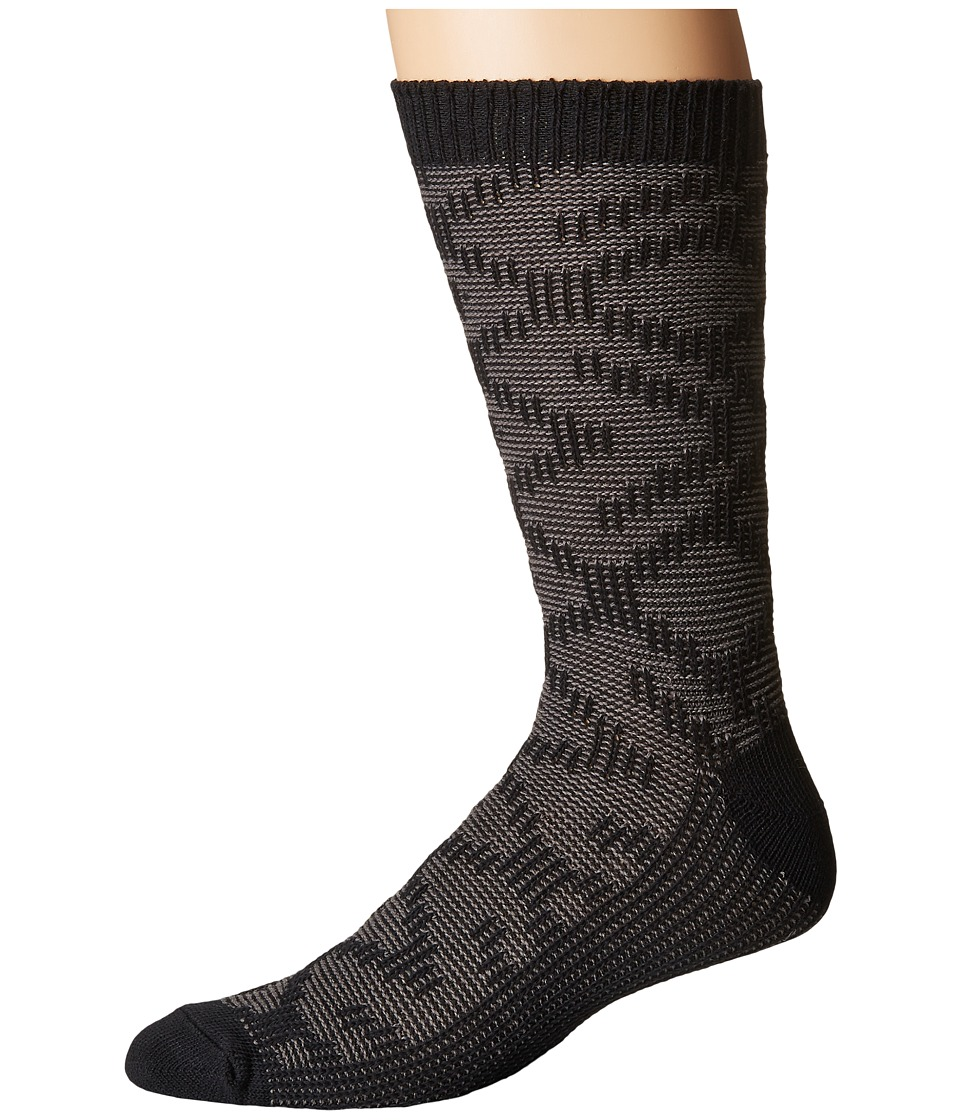 UGG - Cotton Textured Crew Socks (Black) Mens Crew Cut Socks Shoes