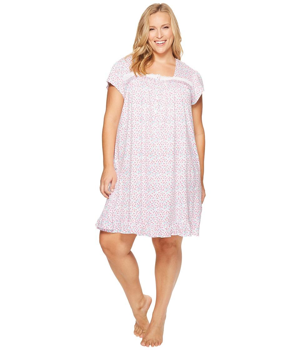 Eileen West - Plus Size 100% Cotton Jersey Short Nightgown
