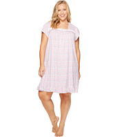 Eileen West - Plus Size 100% Cotton Jersey Short Nightgown