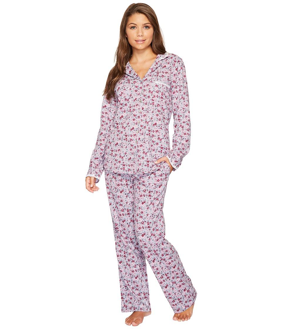 Eileen West - Peached Jersey Notch Collar Pajamas