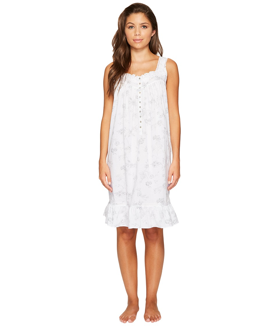 Eileen West - Cotton Lawn Printed Short Chemise