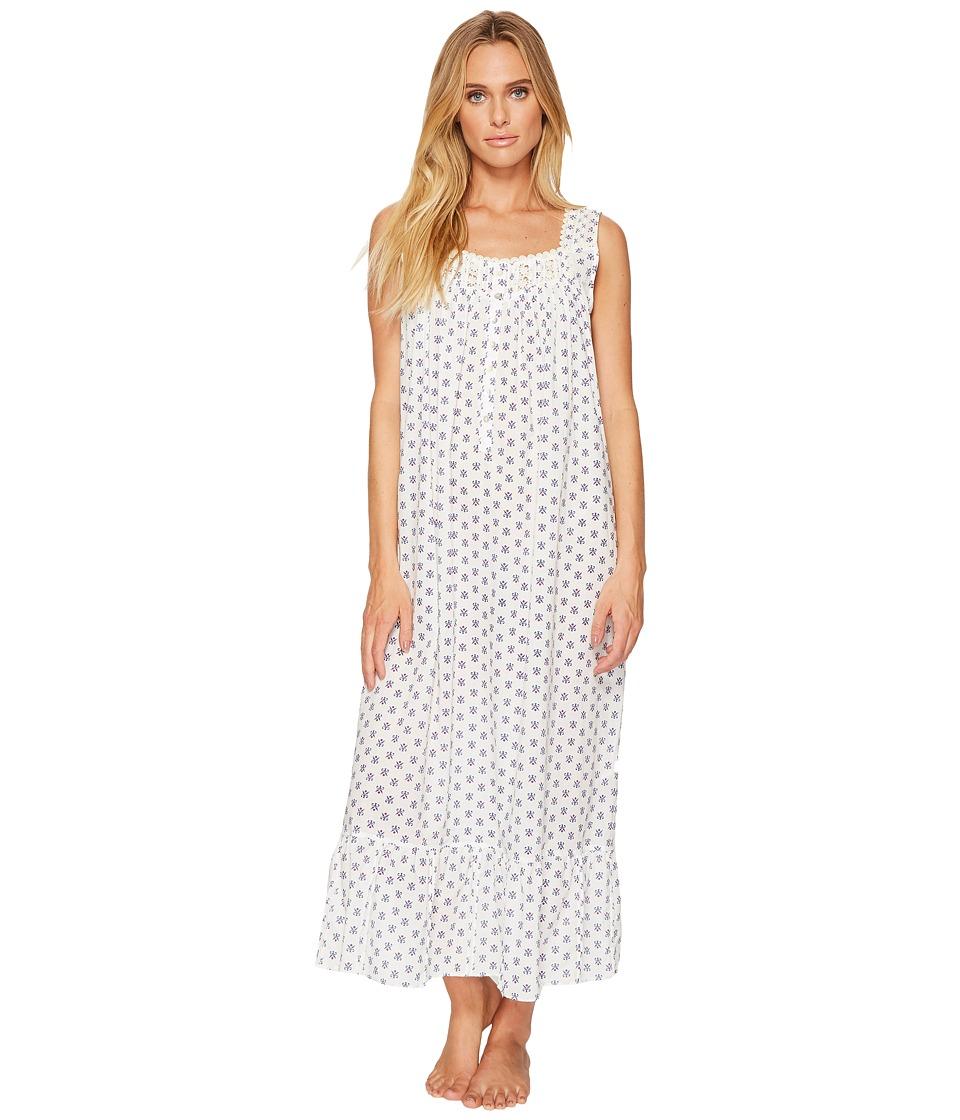 Eileen West - Cotton Lawn Geo Printed Ballet Nightgown