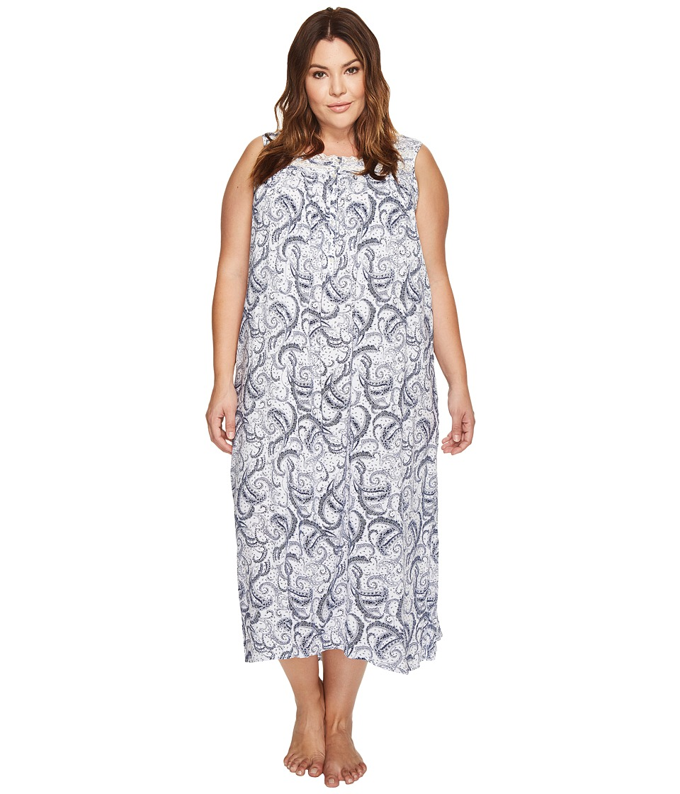 Eileen West - Plus Size Paisley Woven Ballet Nightgown