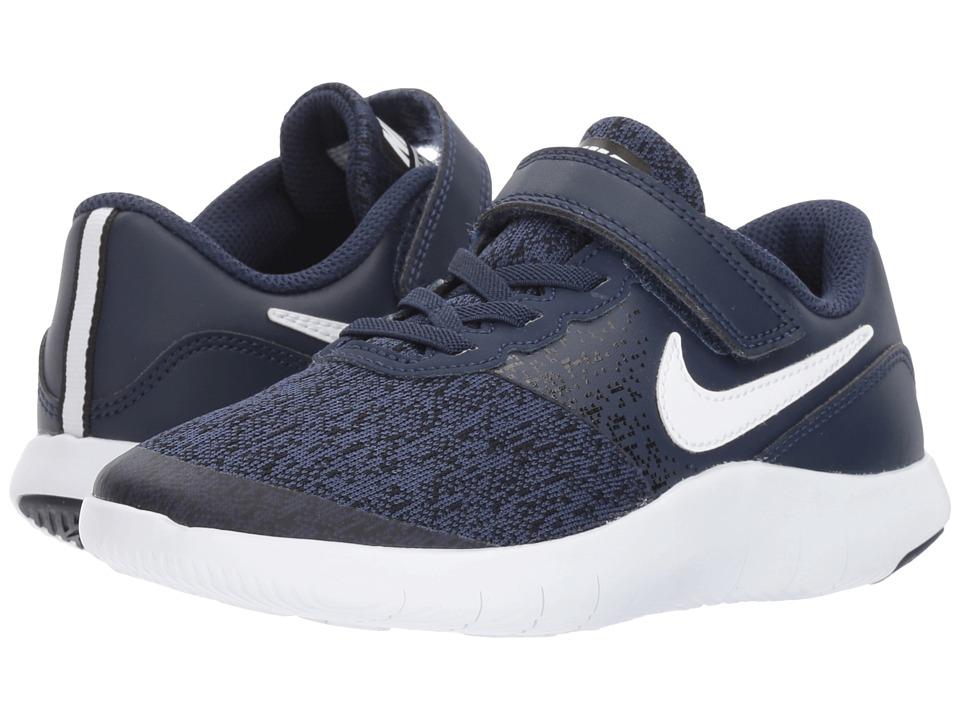 Nike Kids Flex Contact (Little Kid) (Midnight Navy/White/Black) Boys Shoes