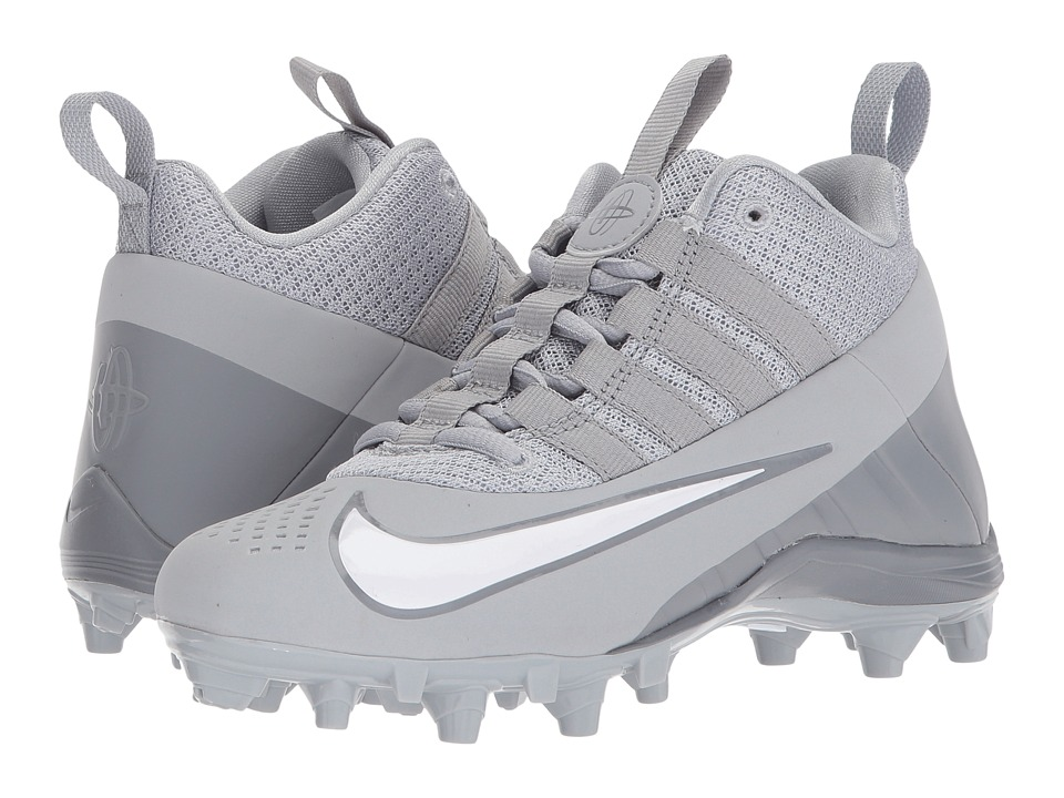 Nike Kids Alpha Huarache 6 BG LAX (Little Kid/Big Kid) (Wolf Grey/White/Cool Grey) Kids Shoes