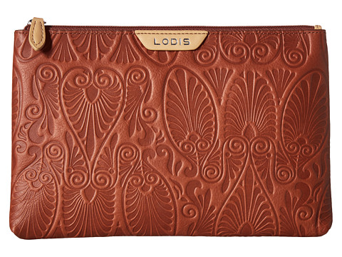 Lodis Accessories Denia Flat Pouch - Toffee