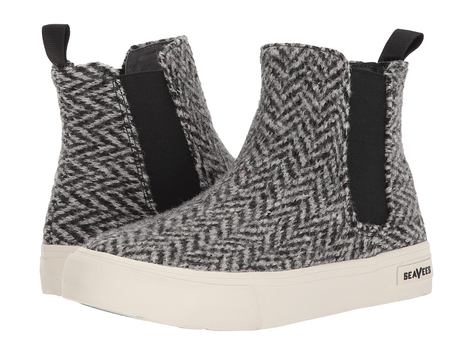 SeaVees Laguna Chelsea Boot (Anchor Grey Herringbone) Girls Shoes