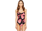 Kate Spade New York Sugar Beach #63 Twist One-Piece Swimsuit w/ Soft Cups and Removable Halter Straps