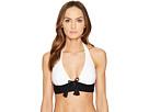 Kate Spade New York - Carmel Beach #60 V-Wire Halter Bikini Top w/ Removable Soft Cups