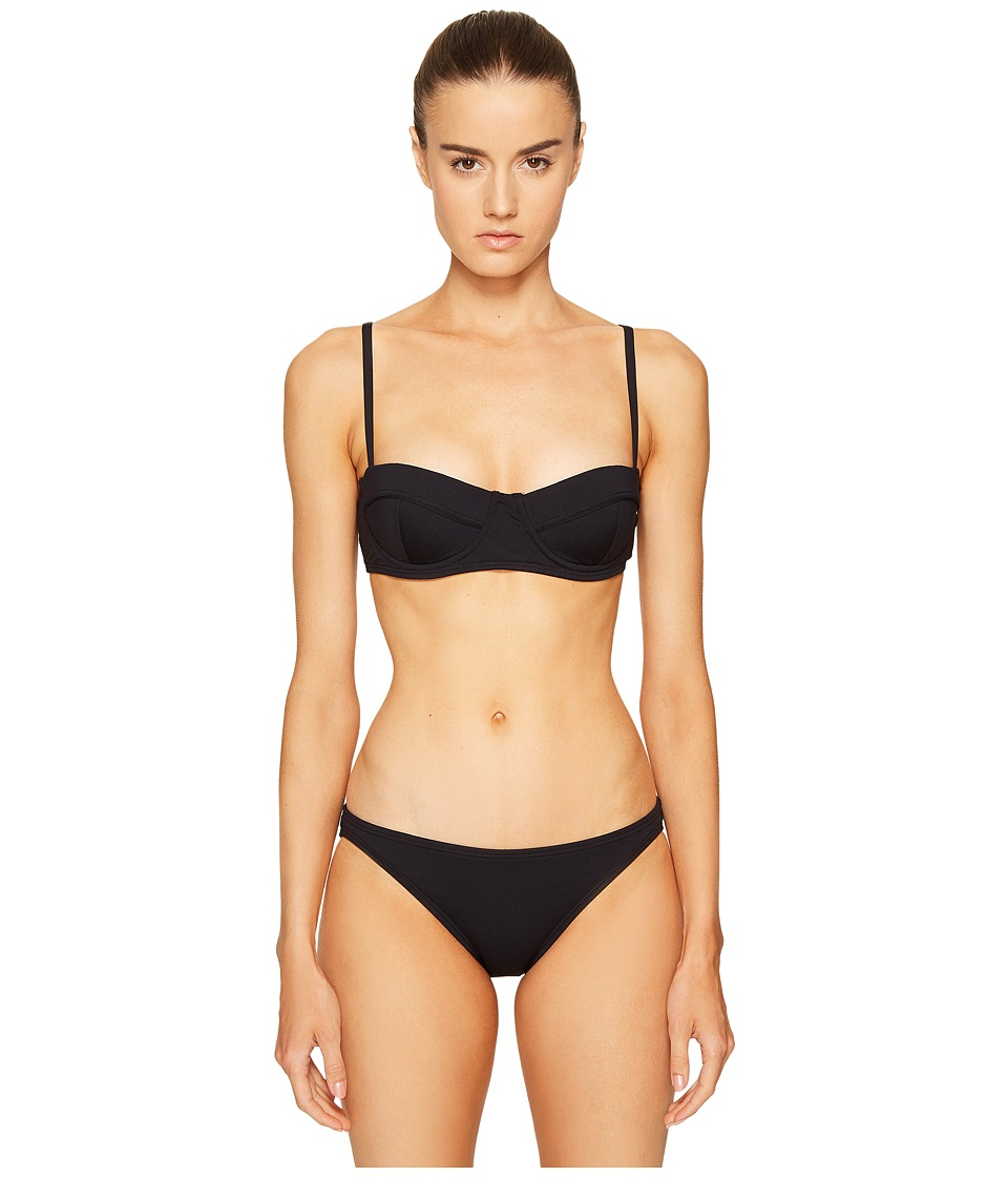 Proenza Schouler Solids Demi Underwire Bra w/ Adjustable Straps Classic Bottom (Black) Women