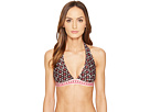 Kate Spade New York Coronado Beach #61 Halter Bikini Top w/ Removable Soft Cups
