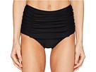 Kate Spade New York - Pink Sands Beach #62 Shirred Front High Waisted Bikini Bottom