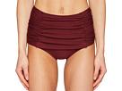 Kate Spade New York Pink Sands Beach #62 Shirred Front High Waisted Bikini Bottom