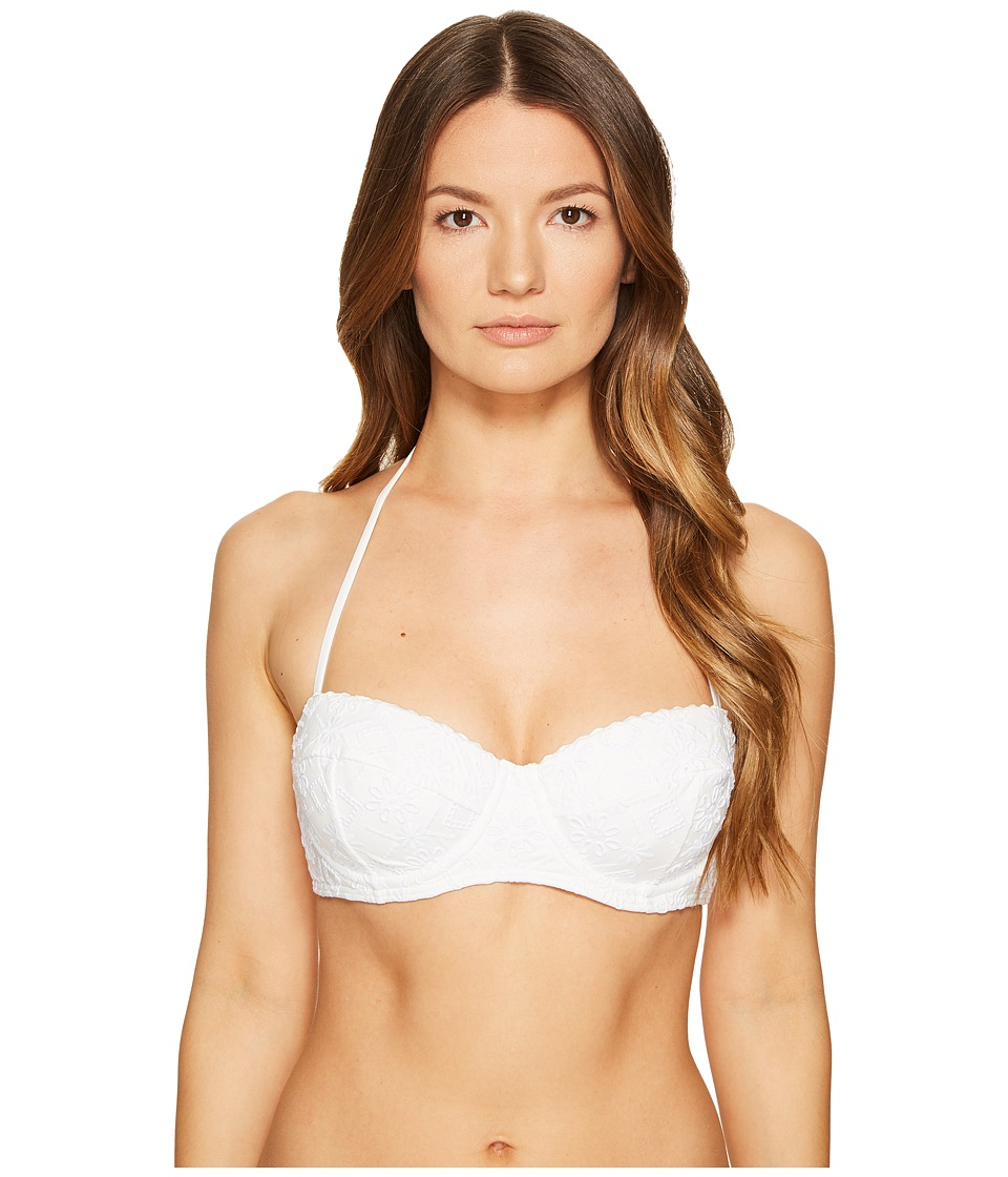 Kate Spade New York Half Moon Bay #58 Underwire Bikini Top w/ Soft Cups (White) Women
