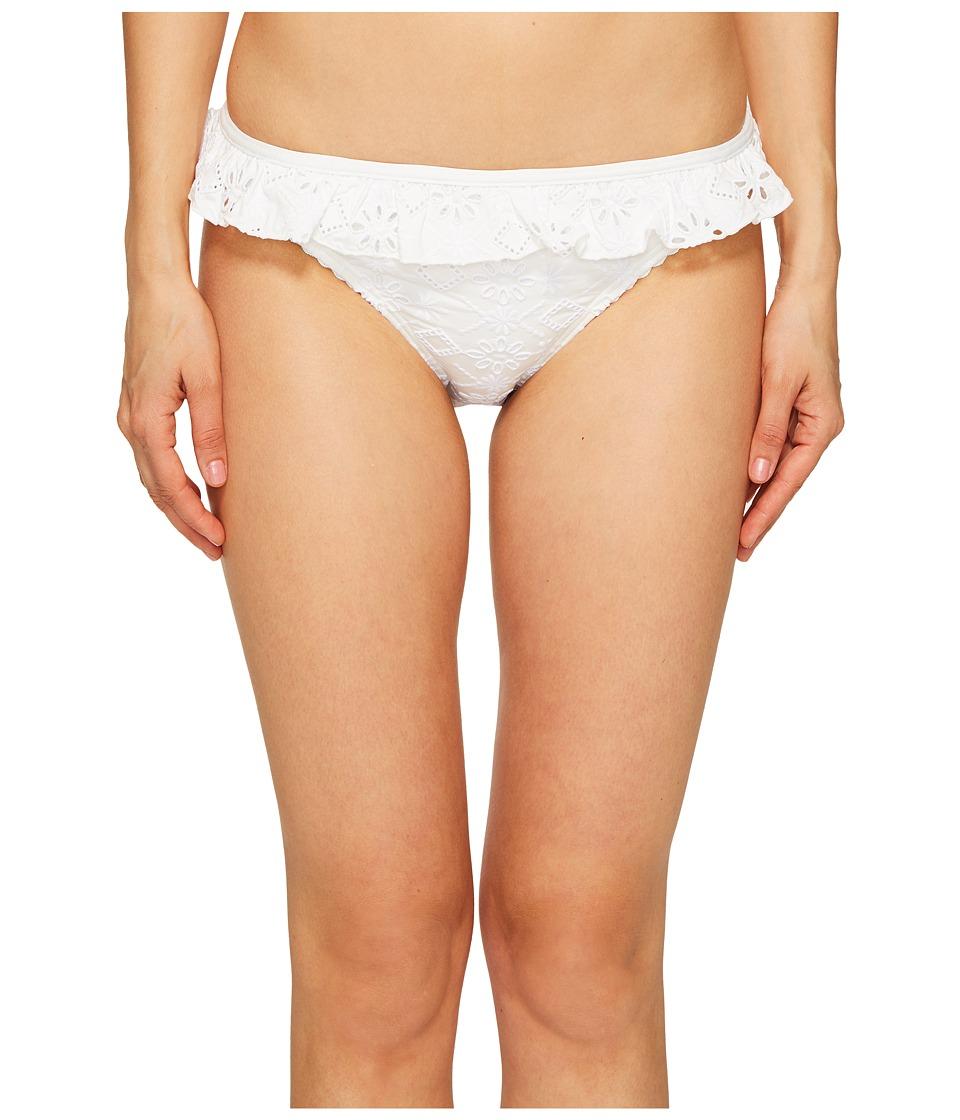 Kate Spade New York Half Moon Bay #58 Ruffle Classic Bikini Bottom (White)