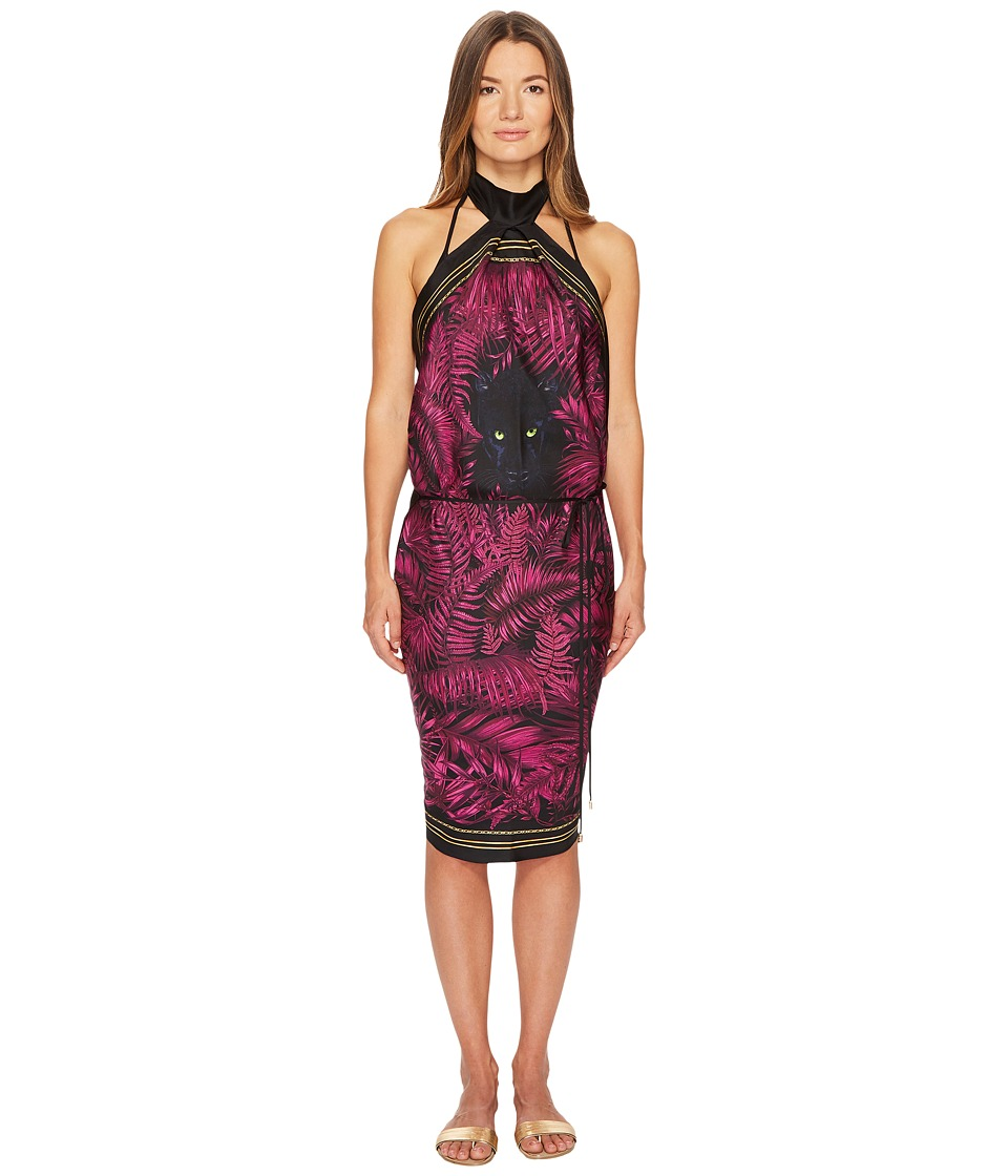 Versace Printed Halter Wrap Cover-Up (Bordeaux)