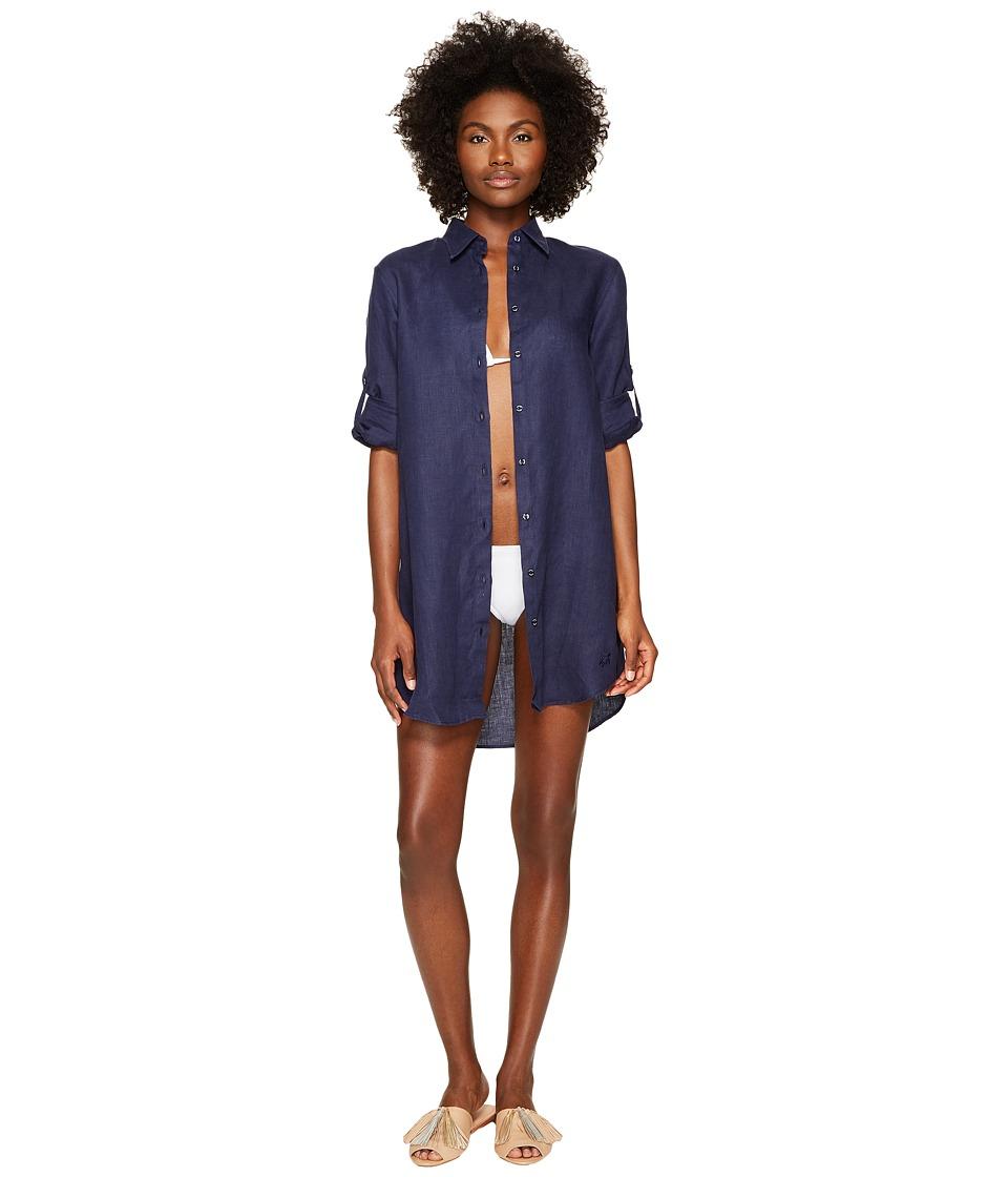 Vilebrequin Linen Shirt Fragance (Navy Blue) Women