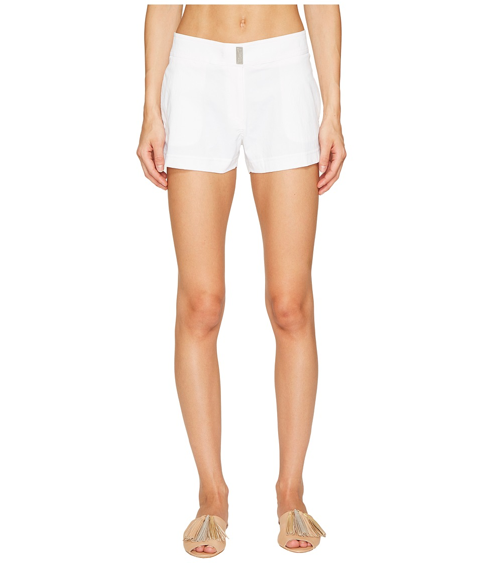 Vilebrequin Superflex Solid Ferise Shorts (White)