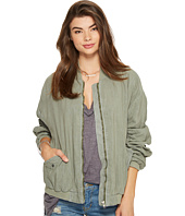 Free People - Ruched Linen Bomber