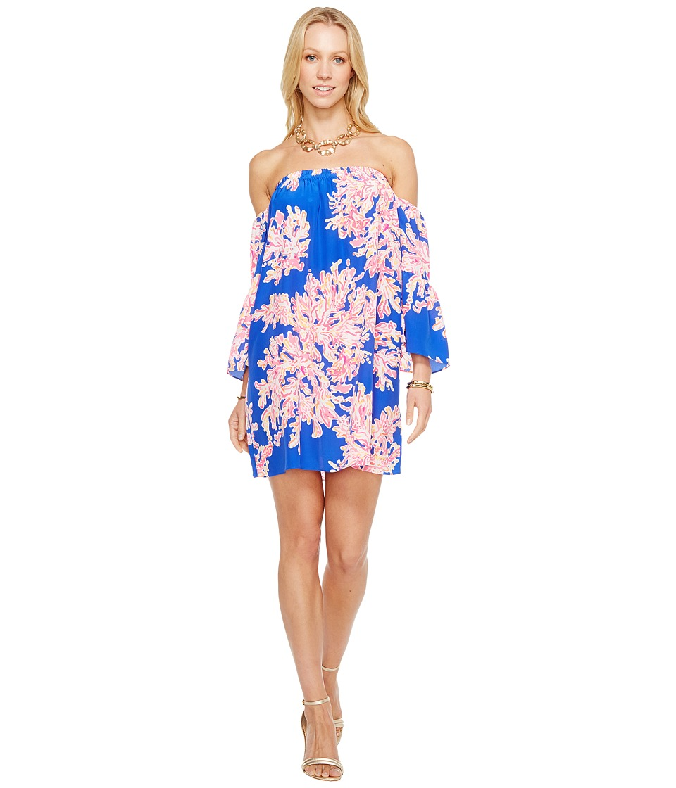 Lilly Pulitzer Sanilla Silk Dress (Brilliant Blue Its Ele...
